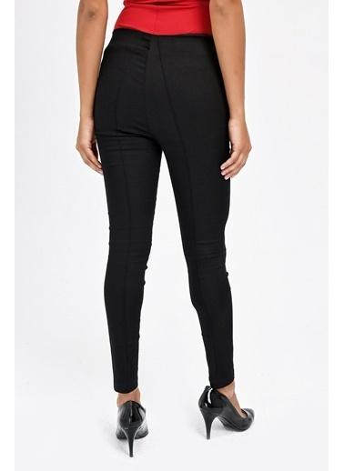 Jument Ön Arka Dikişli Dar Paça Tayt Pantolon - Beyaz Siyah